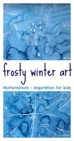 wax crayon water paint frosty pictures