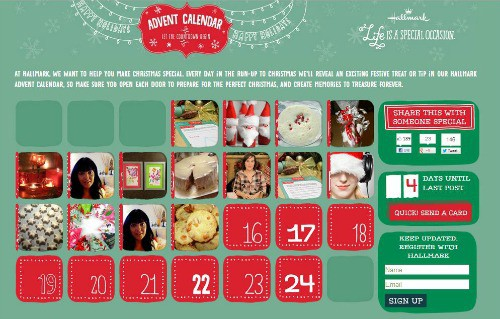 hallmark advent calendar