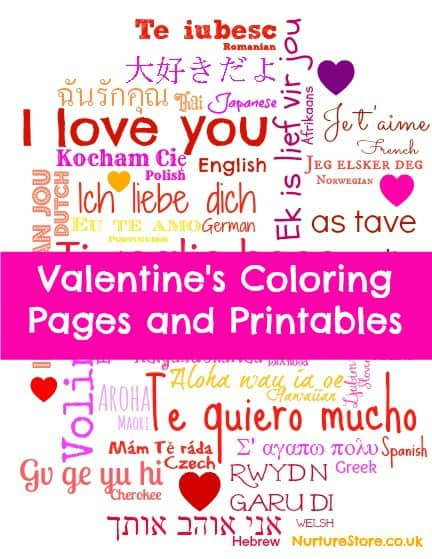 colouring pages Valentines 1