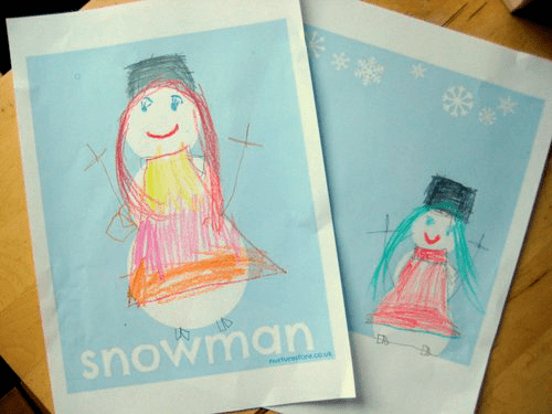 snowman printable coloring sheets