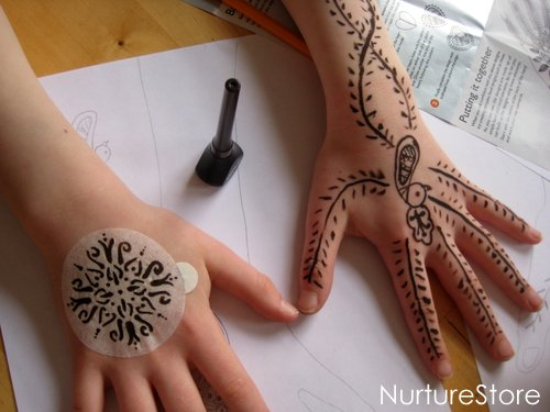 Mehndi Patterns Images : Henna math games making mehndi patterns nurturestore