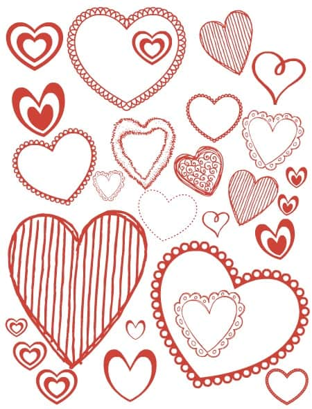 coloring pages valentines hearts 450