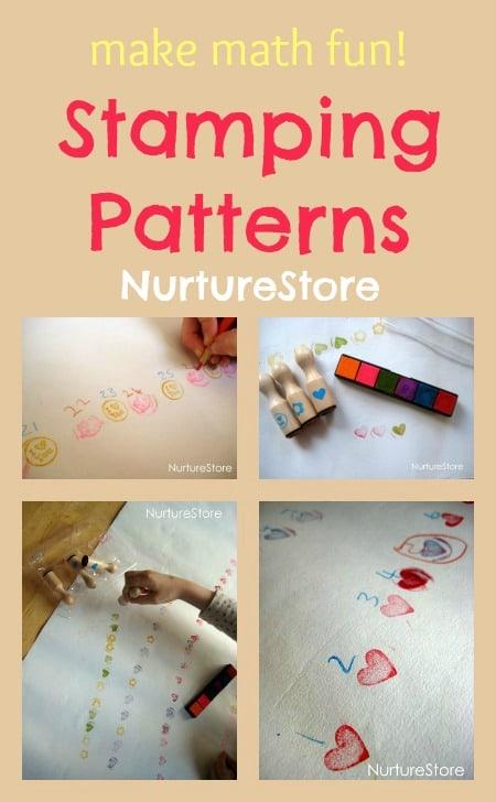 math games stamping patterns