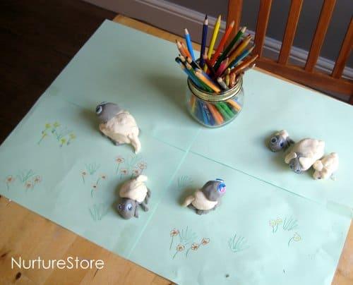 play dough recipe spring lamb