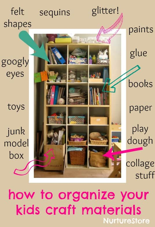 How to Organize Kids Craft Supplies 536 x 786