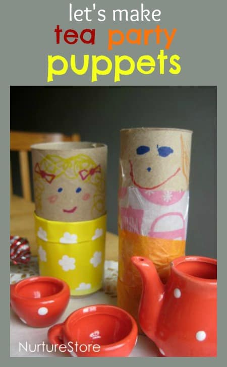 kids crafts tea party puppets