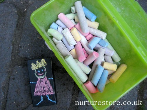 kids games with chalk