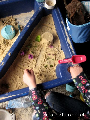 small world play sand pit