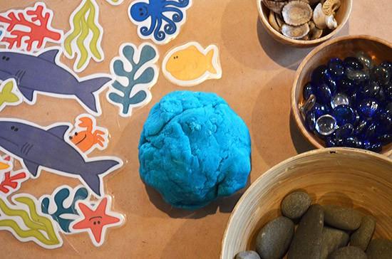 ocean play dough