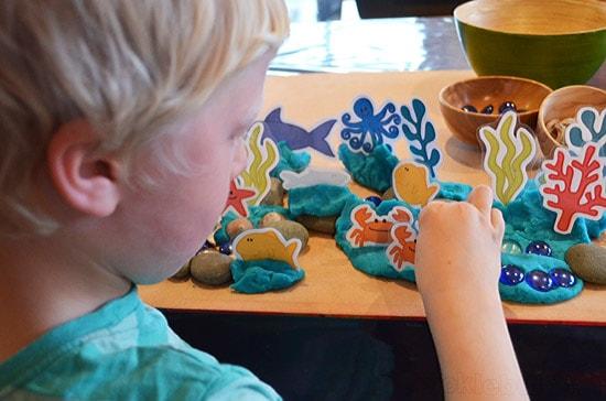 sea creatures ocean play dough