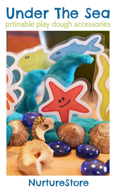 Printable sea creatures for under the sea play dough