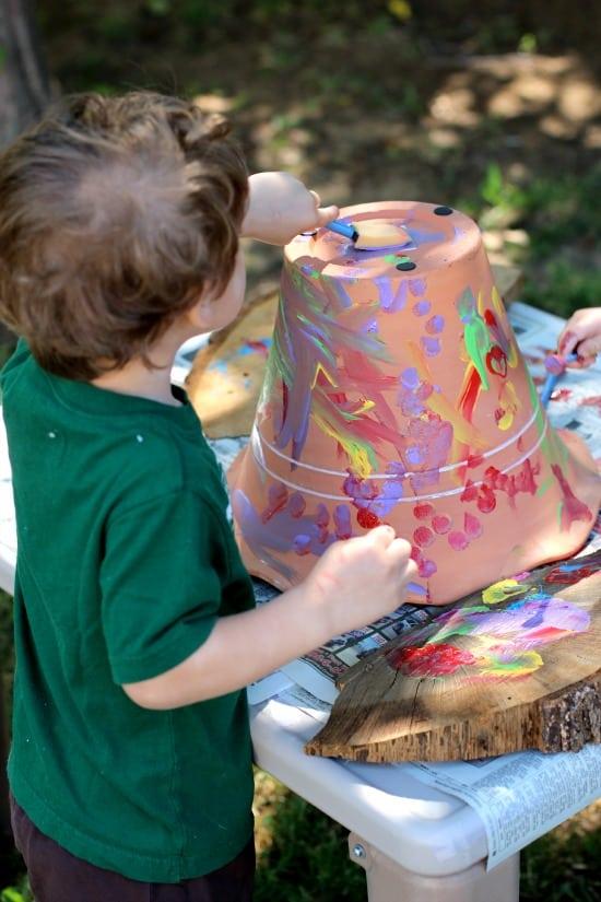 toddler crafts flower pot