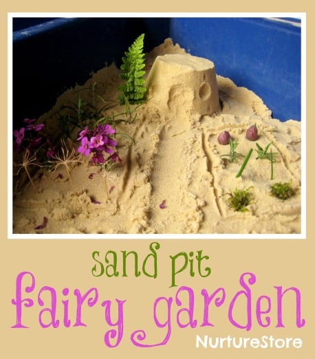 Fairy garden in sand pit :: make a magical small world!