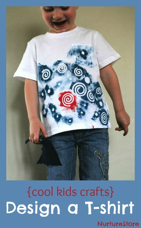Cool kids crafts: design your own t-shirt with this great art technique
