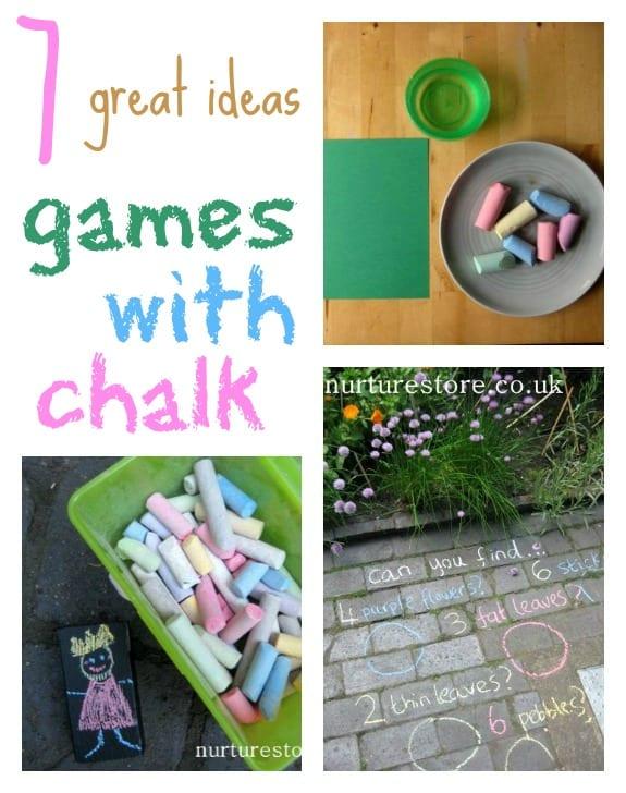 7 kids games with chalk :: Simple Play - NurtureStore