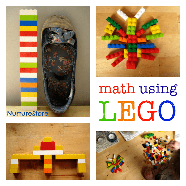 math activities using Lego
