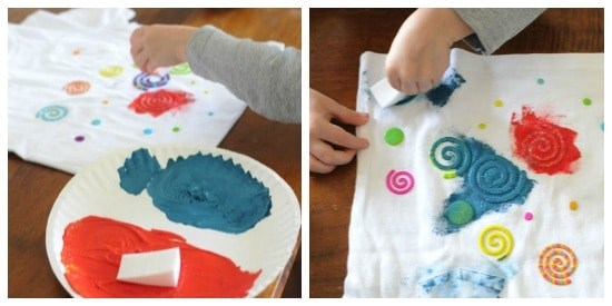 kids crafts design a t-shirt