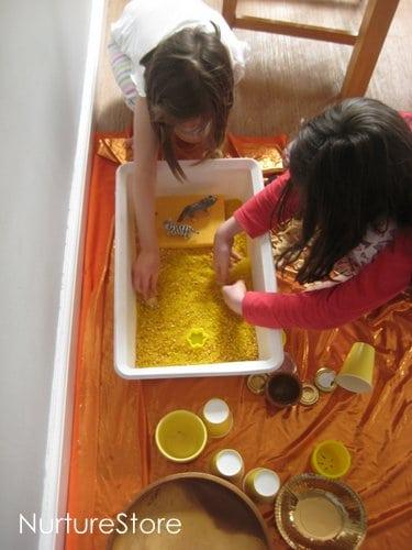 solstice sensory play