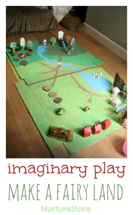 Amazing! Make a DIY magic fairy land - fantastic for imaginary play and storytelling.