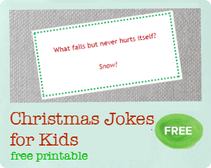 Christmas jokes for kids free printable