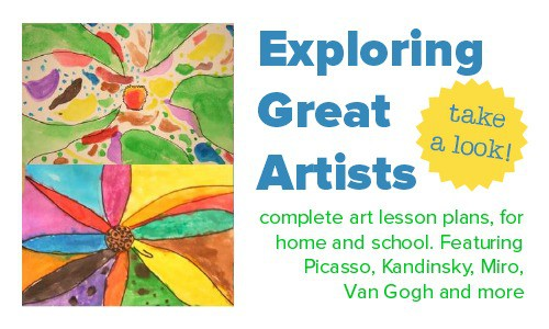 Complete art lesson plans, exploring great artists