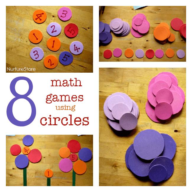 Simple math games using circles