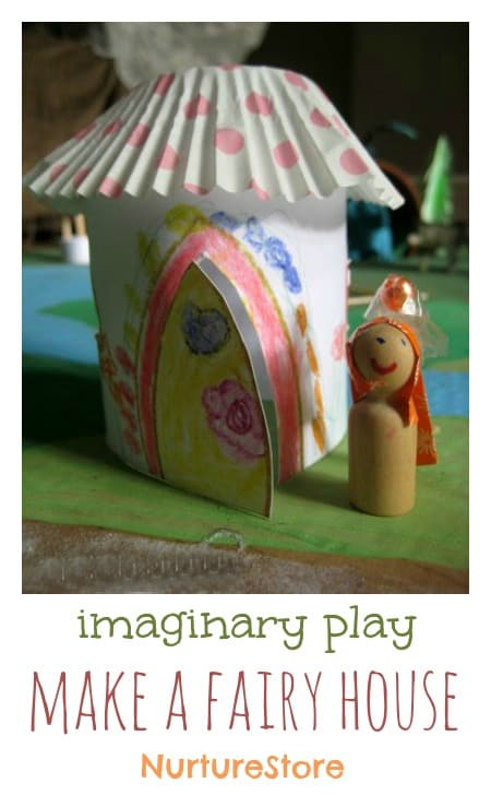 Sweet little fairy houses! Simple to make - the children can each make their own design.