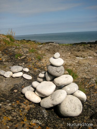 stone cairn building towers