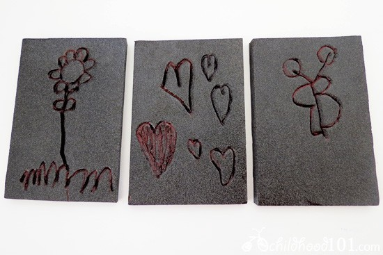 Printmaking - Creating wearable art with kids 3