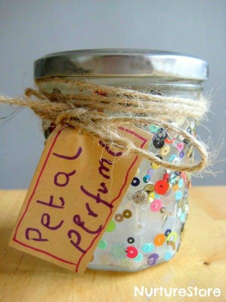 homemade petal perfume