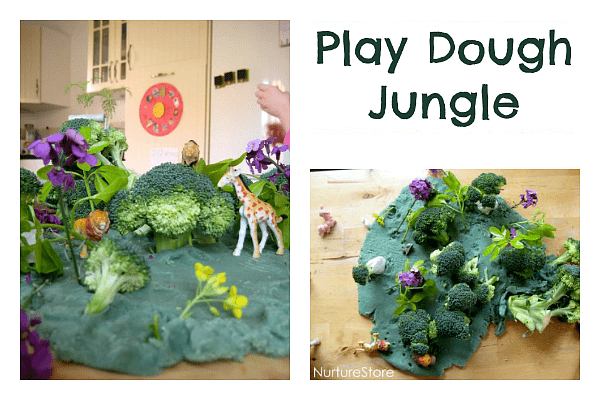 play dough jungle small world