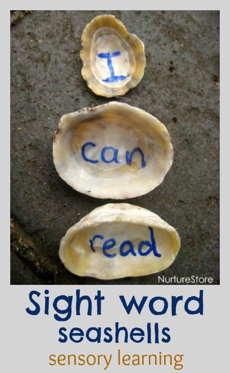 Great ideas to help children learn sight words and spelling, through hands-on, sensory learning