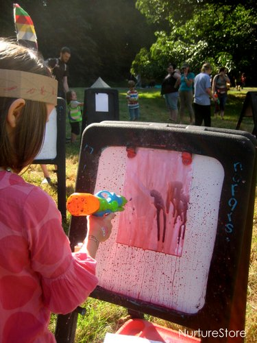 outdoor art spray painting