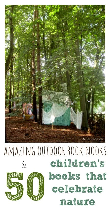 Amazing outdoor book nooks and the top 50 children's books about anture
