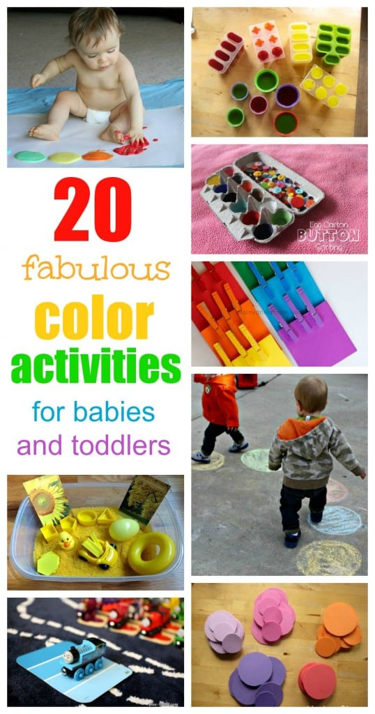 color activities for babies and toddlers