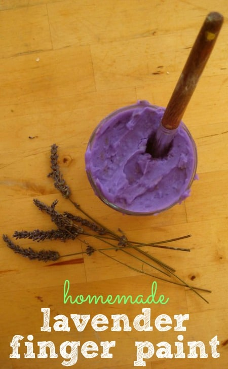 lavender finger paint recipe