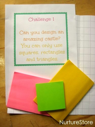 Great ideas for math games with post it notes