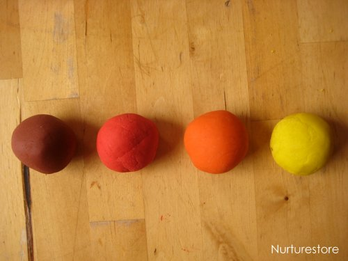 homemade play dough autumn