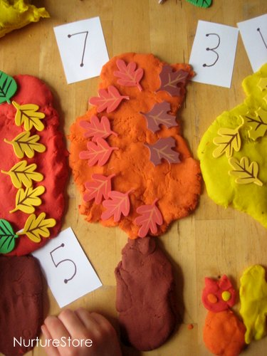 play dough math games