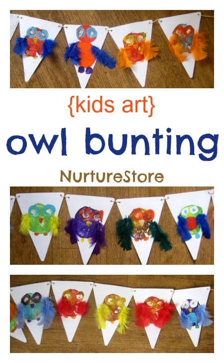 owl crafts owl bunting