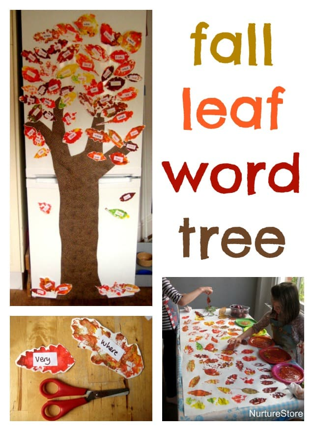 Love this fall leaf word tree - great ides for learning sight words