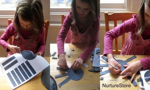 colored salt sensory writing