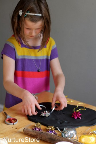 play dough firework activity