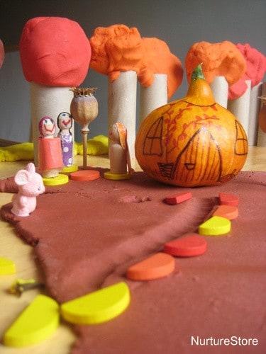 make a pumpkin house