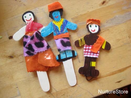 Rama and Sita puppets