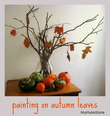 gorgeous autumn leaf art
