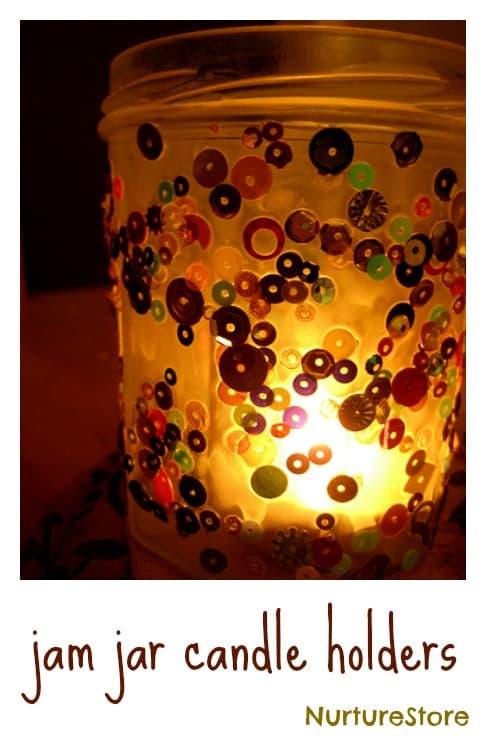 Jam Jar Candle Holder Craft