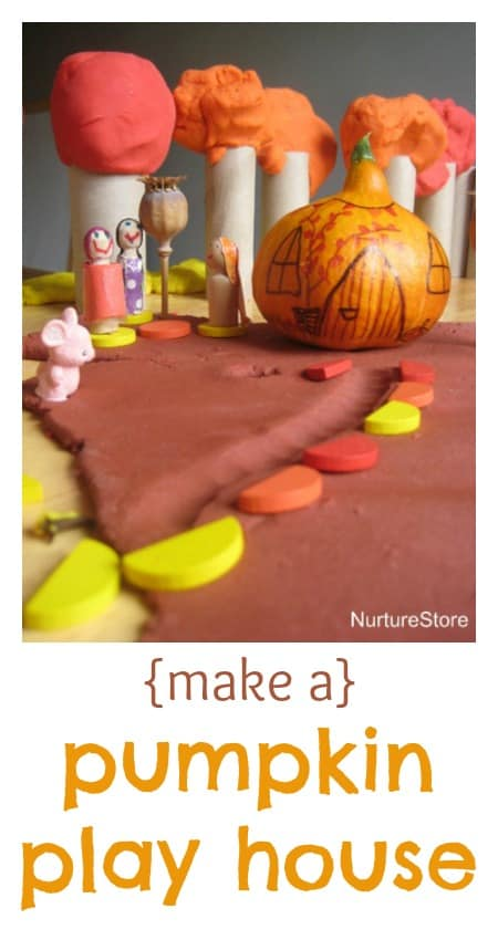 Fantastic idea - turn a pumpkin into a play house! {Love the play dough recipes too.}