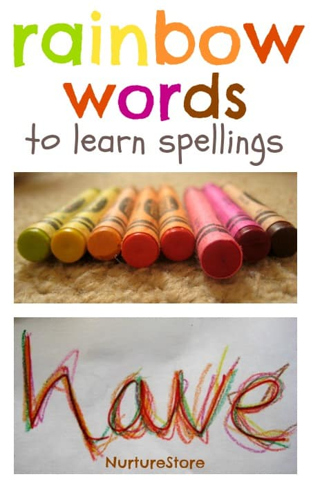 Multi-sensory learning: using rainbow writing to learn spellings