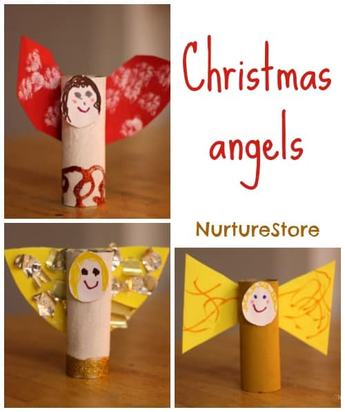 Christmas angel craft for kids ~ sweet and simple